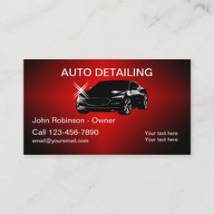 Cool Auto Detailing Business Cards