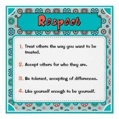 Character Traits Posters, Respect - 1 of 6