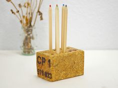 Stiftbecher & -Köcher - Stiftehalter aus Palettenholz,Stifteständer,öko  - ein Designerstück von SchlueterKunstundDesign bei DaWanda