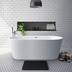 Brooklyn 1700 x 800mm Double Ended Freestanding Bath at Victorian Plumbing UK