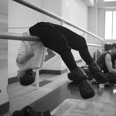 """Photo: Maria Kochetkova (@balletrusse) """"hanging out"""" before rehearsals here in…"""