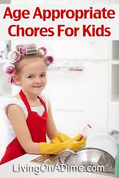 Age Appropriate Chores For Kids. Is it time for your children to do these chores?