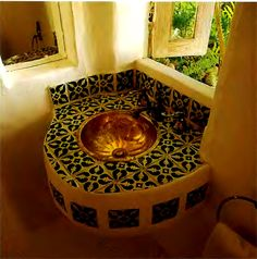 luxury gold washstand carribean style design
