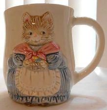 VINTAGE OTAGIN HAND PAINTED KITTY CAT MUG...JAPAN
