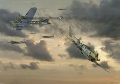 The ditching by gil cohen boeing b 17 flying fortress aviation find this pin and more on aircraft by richard fandeluxe Gallery