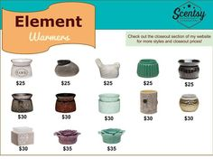 Scentsy Element Warmers! Available at: Jenniferlynnmcmahan.scentsy.us