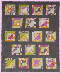 Jo Jo Quilt Pattern by Abbey Lane Quilts at KayeWood.com Jo Jo is a great little quilt that shows off both a beautiful background and fun prints in the blocks.  Switch up those modern fabrics for more traditional ones and you will get an entirely different look. http://www.kayewood.com/item/Jo_Jo_Quilt_Pattern/2988 $9.50