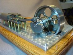 STEAM ENGINE PLANS ONLY horizontal mill type lathe CNC live kit model air toy #IsItBroken