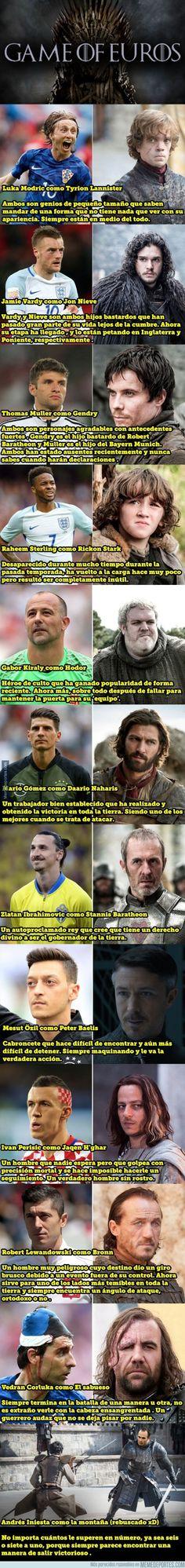 883496 - 12 estrellas de la Euro 2016 si fueran personajes de Juego de Tronos