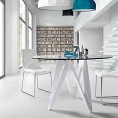 table ronde en verre design moderne Lapo