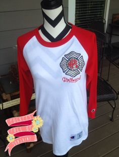 Firefighter Girlfriend Baseball Tee via Pockets Full Of Sunshine Monogram Boutique. Click on the image to see more!