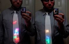 Nerd-a-licious lights! LED light up Tetris necktie, so cool if you grew up with Nintendo NES like I did.
