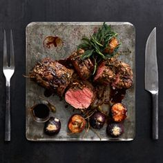 Japanese style beef sirloin with apple dressing & cucumber pickle. Click the pic for the recipe.