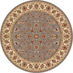 "Blue Oriental Traditional 5' Round Area Rug Border Persian Carpet : Actual 5'3"" - http://home-garden.goshoppins.com/rugs-carpets/blue-oriental-traditional-5-round-area-rug-border-persian-carpet-actual-53/"