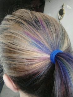 The pink and blue on top were done with a sharpie marker