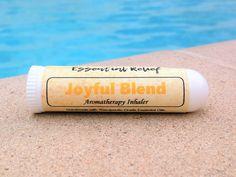 Joyful Blend Essential Oil Inhaler, Joyful Blend Essential Oil Aromatherapy, Joyful Blend Personal Diffuser, Medical Grade Inhaler by EssentialRelief on Etsy