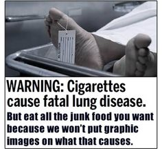 Yes, smoking is detrimental to health, but so are so many other things that are ignored!  Worth the read!