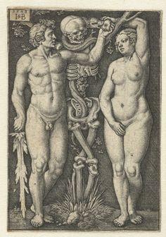 Hans Sebald Beham : Adam et Eve. Adam Et Eve, Albrecht Dürer, The Falling Man, Harvard Art Museum, Danse Macabre, Mystique, Vanitas, Art Graphique, Illustrations