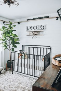 Ledger Luke's Nursery Tour - All things vintage trains, planes, and cars. A bright and cozy neutral nursery for my baby boy. Vintage Baby Boy Nursery, Baby Boy Nursey, Boy Nursery Cars, Train Nursery, Boy Nursery Themes, Vintage Baby Boys, Baby Boy Rooms, Baby Boy Nurseries, Nursery Room