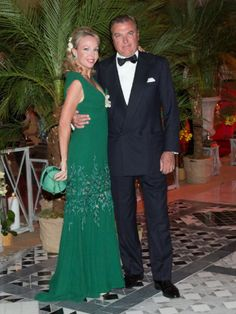 Princess Camilla of Bourbon-Two Sicilies and Prince Charles of Bourbon-Two Sicilies attend the F1 Grand Prix of Monaco Gala dinner at 'Sporting d' ete' on 25.05.2014 in Monte-Carlo, Monaco