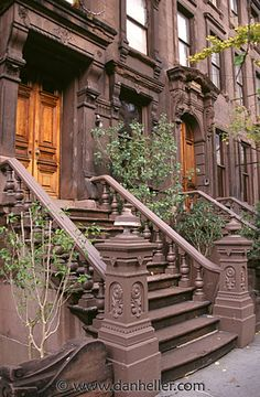 new york brownstones - reminds me of the Cosby Show