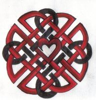 Celtic knot w/ heart