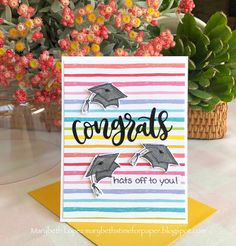 Congrats hats off to you, graduation card.Marybeth's time for paper