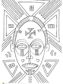 Coloriage masque africain dents pointues African American History Month, Afrique Art, Caribbean Art, Acrylic Painting Lessons, Copper Art, Art Curriculum, School Art Projects, African Masks, Mask For Kids