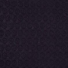 Black Metallic Dotted Cotton Jacquard Fabric by the Yard | Mood Fabrics
