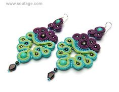 Lawender Earrings is a fragrance of sunny Provence and magnificent soutache earrings. The length of jewelry is 10 cm. Handmade by soutache technique. Used materials are turquoises, hematites, garnet, glass and metal beads and soutache. It's possible to order in different color scheme