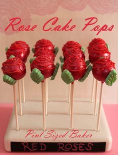 Pint Sized Baker: Rose Cake Pops