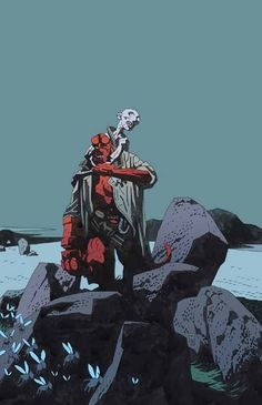 Mike Mignola is a comic book artist and writer who has worked with both DC and Marvel. He is best known for his creation of Hellboy published by Dark Horse Comics. Comic Book Artists, Comic Artist, Comic Books Art, Mike Mignola Art, Comic Art Community, Classic Comics, American Comics, Marvel, Comic Character