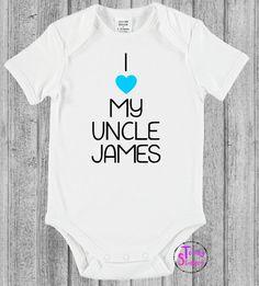 I LOVE MY UNCLE - bodysuit - onesie - romper by TotallyStamped on Etsy https://www.etsy.com/au/listing/286681099/i-love-my-uncle-bodysuit-onesie-romper