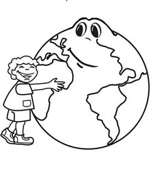 Make the Earth a clean place to live coloring page Download Free