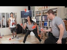 Cupcake Blaster | Blow Them Up! (Minute to Win It) - YouTube