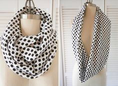 how to make an infinity scarf . sewing 101