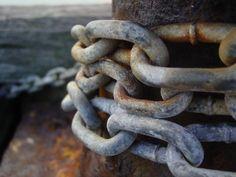 a chain around a pole