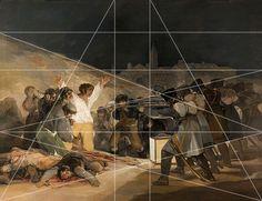 rocbo : Géométrie des peintres, Francisco de Goya, El tres de mayo.