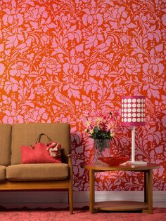 Ooh, la, la! Our lovely French Floral Damask wall stencil features an abundance of lush flowers pair with exotic birds. Based on an historic French floral fabri