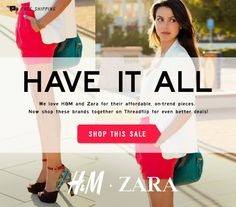 H&M and Zara email design