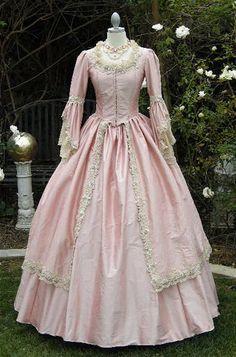 Pink Marie Antoinette gown.
