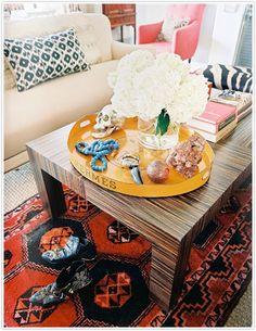 Layered Rugs via La Dolce Vita | www.ladolcevitablog.com | Burnham Design