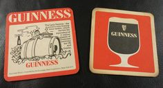 2 Beer Coaster Mat Guinness Stout Uk Dublin Lady Patricia Floating Beer Tanker