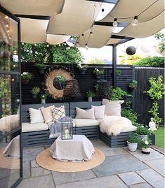 Backyard Patio Designs, Small Backyard Landscaping, Small Backyard Design, Backyard Pools, Small Patio, Diy Patio, Backyard Landscape Design, Backyard Decorations, Small Outdoor Patios