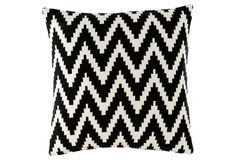 Love this black and white chevron pillow!