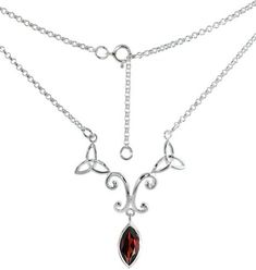 Sterling Silver Celtic Trinity Triquetra Knot Necklace with Natural Garnet 16 inch long Sabrina Silver http://www.amazon.com/dp/B0028QBR6U/ref=cm_sw_r_pi_dp_ZYbBub11TRX79