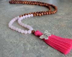 EASTER SALE 108 Mala Bead Mala Necklace Mala Bead Tassel