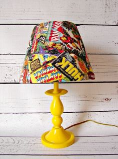 Comic Book Lamp | 29 Geeky Crafts You Need to Make Right Now (for this one only, not using comics)
