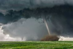"""Top 10 Weather Photographs: January 2016 """"Twin Tornadoes Dance on the Plains"""" – Twin tornadoes near Simla, Colorado. Weather Blog, Wild Weather, Severe Weather, Extreme Weather, Natural Phenomena, Natural Disasters, Tornado Pictures, Tornado Pics, Picture Cloud"""