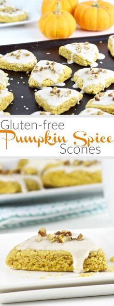 Gluten-Free Pumpkin Spice Scones | A gluten-free scone featuring the flavors of fall that's light and fluffy and just sweet enough to hit the spot - perfect for nibbling with coffee or tea. Freezer-friendly with nut-free option | therealfoodrds.com